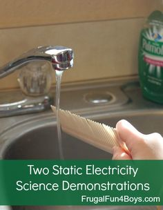 "Two fun ways to demonstrate static electricity.  Bend water without touching it!  And cause pepper and salt to ""magically"" separate!"