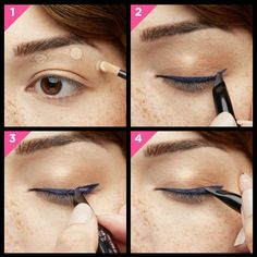Get a KILLER winged-out-wow look by pairing they're real! push-up liner and mascara in beyond blue! #benefitbeauty