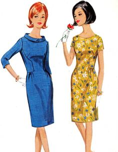 1960s Dress Pattern Butterick 4155 Mad Men Shirred by paneenjerez,