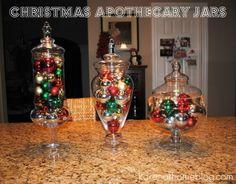 Karen At Home: Christmas Apothecary Jar Project