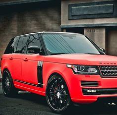 Range Rover red Love this car! Ferrari, Maserati, Bugatti, Lamborghini, Red Range Rover, Range Rover Sport, Range Rovers, Custom Range Rover, Porsche