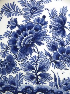 Delft Factory, Delft, Netherlands Photographic Print by Cindy Miller Hopkins at Blue And White Fabric, Blue And White China, Blue China, Love Blue, Chinoiserie, Pantone, Arte Floral, China Patterns, White Decor