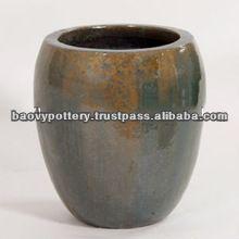New design Outdoor ceramic planter red color round shape