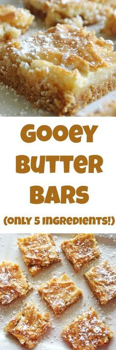 Gooey Butter Bars Recipe at Rose Bakes