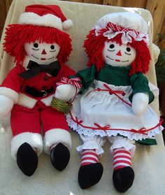 Handmade 20inch Raggedy Ann & Andy Cloth Doll by SewBeItbyNancy, $130.00