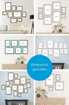Les cadres mettent en valeur les motifs préférés. #Image Wall #Photowall - Mur de photos - New Ideas