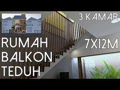 Rumah 3kamar Balkon Teduh - Lahan 7x12m [kode 137] - YouTube Split Level House Plans, Cozy House, Youtube, House Design, How To Plan, Architecture, Interior, Bathroom Remodelling, Modern