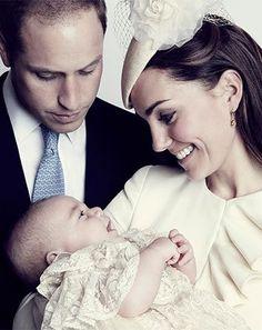 sweet baptism photo of kate, william, & george.