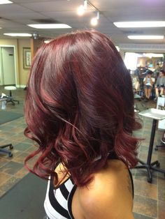 Deep plum and cherry balayage by #amaciasstyle