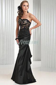 Seite drapiertes Paillettenbesetztes normale Taille bodenlanges Brautmutterkleid/ Abendkleid