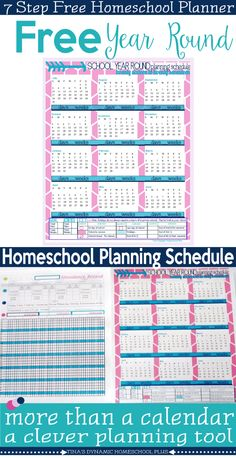 This is NOT a calendar, but a super helpful homeschool planning form! You can grab free calendars too. But look how I use this planning tool to plan my school year. Grab your free 2016 to 2017 Year Round Homeschool Planning Checklist @ Tina's Dynamic Homeschool Plus