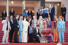 Actresses Nicole Kidman, Elle Fanning, actors Alex Sharp, AJ Lewis, director John Cameron Mitchell, costume designer Sandy Powell, Novel's author Neil Gaiman and the cast of the movie attend the 'How To Talk To Girls At Parties' screening during the 70th annual Cannes Film Festival at Palais des Festivals on May 21, 2017 in Cannes, France.