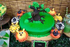 Jungle Themed Dessert Table Fantastic Cake
