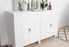 DIY Ikea Hack | Besta Cabinet Two Ways - Glam Latte