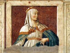 Oil painting:Queen Esther. From the Cycle of Famous Men and Women. (1450)