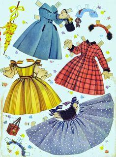Bonecas de Papel: Umbrella Girls - 1956