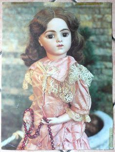 Poster foto bambola antica. Bambola Bru. di bamboleantiche su Etsy, €16.00