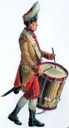 AWI British: Drummer of the 40th foot 1781, by Don Troiani. (www.dontroiani.com)