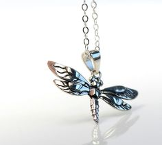 All sterling dragonfly necklace Sterling Silver by Beautiful2u, $32.00