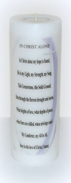 Inspirational candle Christian Candle by DesignsbyDMCandles