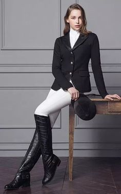 The most important role of equestrian clothing is for security Although horses can be trained they can be unforeseeable when provoked. Riders are susceptible while riding and handling horses, espec… Women's Equestrian, Equestrian Outfits, Horse Riding Boots, Botas Sexy, Country Fashion, Fashion Outfits, Womens Fashion, Polo, Horses