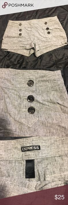 Express Sailor Shorts Silver Buttons Express Sailor Shorts, excellent condition, silver buttons Express Shorts