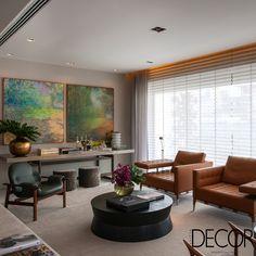 Idealizada para um casal com filhos, unidade de 800 m², com décor assinado pelo arquiteto Roberto Migotto, possui ambientes sociais em um único espaço para a descontração da família que adora receber amigos.