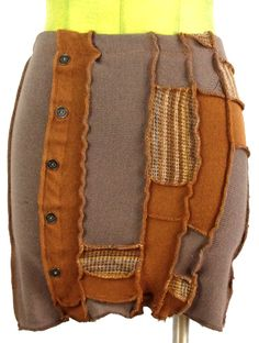 Foat Design Brown Sweater Skirt