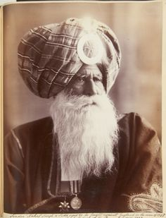 Sirdar 'Nehal Singh' (fl. 1870). A Sikh aged 80, He fought against England in the war of 1857, now a loyal subject of the Queen Empress