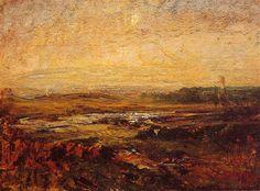 Auguste RAVIER (1814-1895) maisema Lyonin liepeiltä. Latasin kuvan sivustolta www.geoffreydorfman.com