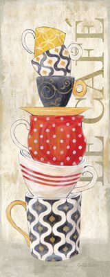 Cafe Cups Stacked II (Cynthis Coulter):