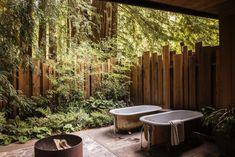 outdoor bathtubs Glen Oaks Big Sur California