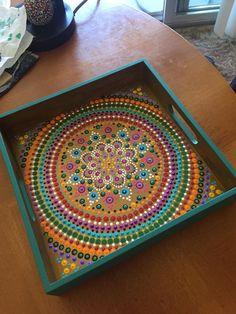 Mandala Canvas, Mandala Artwork, Mandala Drawing, Mandala Painting, Pencil Drawings Tumblr, Wooden Box Crafts, Doodle On Photo, Acrylic Painting For Beginners, Painted Trays