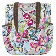 THIRTY-ONE Retro Metro Bag Tote Purse FLUTTER Butterfly Retired! NIP f0745a510d2c1