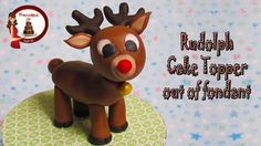 How to make Rudolph the Reindeer out of fondant Cake Topper