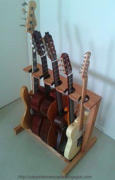 ¿Tocas la guitarra? ¿Tienes varias en casa? Esta puede ser la mejor solución para tenerlas colocadas.