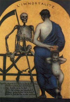 ~ L'Immortalité Xavier Mellery 1890