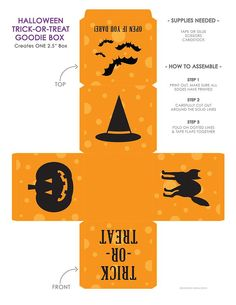 Halloween trick or treat box template printies flat 2 pinterest halloween trick or treat box template printies flat 2 pinterest box templates halloween tricks and template maxwellsz