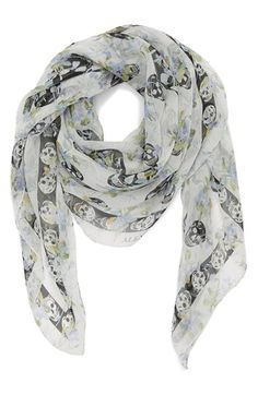 Alexander McQueen 'Rampage' Silk Scarf available at #Nordstrom