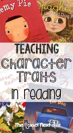 Teaching about character traits in reading can be challenging but fun. This resource links to lots of great ideas to help me teach character traits in reading to improve reading comprehension. Reading Lessons, Reading Activities, Reading Skills, Teaching Reading, Guided Reading, Teaching Ideas, Reading School, Learning, Reading Help