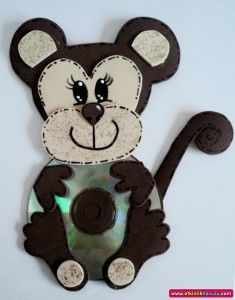 Fun Activities: Old CD Animal Crafts for Kids - Kids Art & Craft Kids Crafts, Animal Crafts For Kids, Craft Projects For Kids, Preschool Crafts, Art For Kids, Easy Crafts, Diy And Crafts, Arts And Crafts, Kids Fun