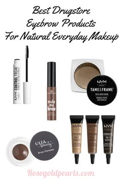 Who doesn't love a good natural makeup look? This list rounds up all the best makeup products for a natural everyday makeup look. These are by far the Best drugstore eyebrow products I've tried. Best drugstore eyebrow makeup | best natural drugstore eyebrow products | natural eyebrow tutorial | best natural everyday makeup routine
