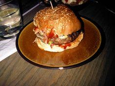 It's a bacon burger! Ground bacon patty.
