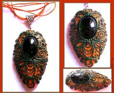 Faux Filigree.  Detailed photos but translate.  #Polymer #Clay #Tutorials