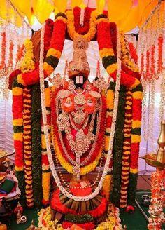 Flower alankara for Sri Venkateswara Swamy Tirumala..........