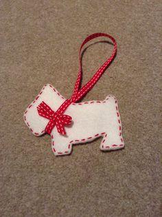 Handmade Scottie dog decoration