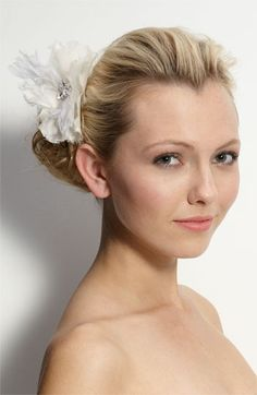 Tasha Feather Flower Clip to continue the subtle touch of feathers in our wedding #nordstromweddings