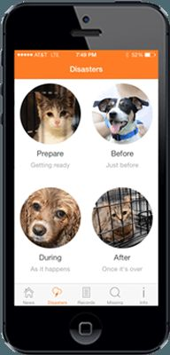 The ASPCA mobile app stores and manages your pet's health records, delivers breaking news about animal welfare, includes a step-by-step guide for finding a lost pet, and tells pet parents what to do to take care of pets in case of a natural disaster.
