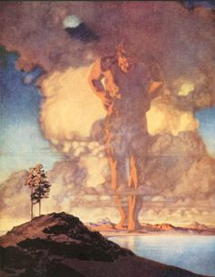 Maxfield Parrish--Three Golden Apples