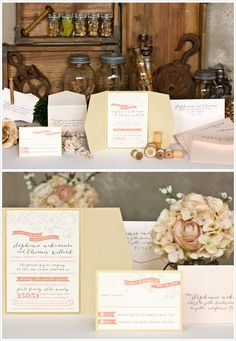 Stephanie & Thomas - Envelopments Wedding Invitation
